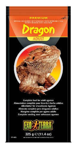 Exo Terra Bearded Dragon Food, Juvenile Adult, 11.4-Ounce