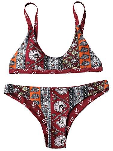 1d20ba8b8ca9a5 ZAFUL Bikini Swimwear Sexy Push up Bralette Elegant Cheeky Bottom ...