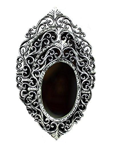 (Nagina International Antique Rustic Black Ancient Magic Vintage Mirrors Handmade & Carved Reflective Plane Mirrors | Home & Wall Decor (Set of 3))