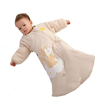 Gleecare Saco de Dormir para bebé,Retroceso contra niños es Espesado Caliente Manga Desmontable Multifuncional Saco de Dormir Infantil del bebé algodón ...