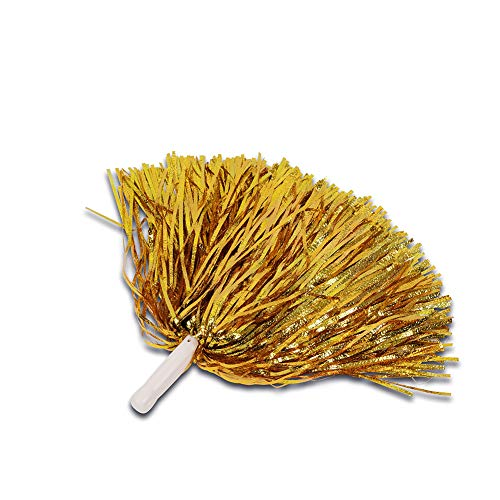 Sanlan Cheerleader Pom Poms 6pcs Cheerleading Poms Metallic Foil Pom Poms Squad Cheer Sports Party Dance Useful Accessories,Plastic Cheerleading Pom Poms for Sports ()