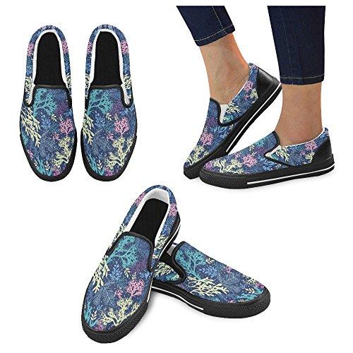 Scarpe Da Donna Slip-on In Tela Multicolore