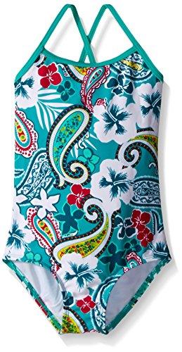 Kanu Surf Little Girls' Toddler Summer Dream One Piece Swimsuit, Green, 2T