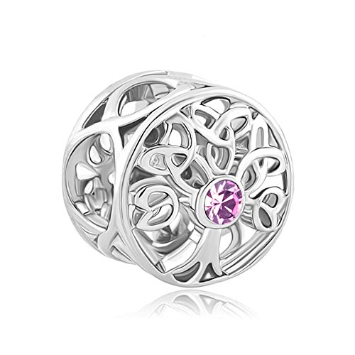 LovelyJewelry Lucky Family Tree of Life June Birthstone Celtic Knot Charm Bead Sale Cheap Fit Pandora Bracelet ()