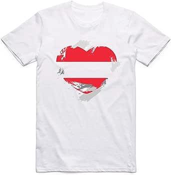 White austria Flag T-Shirt For Men