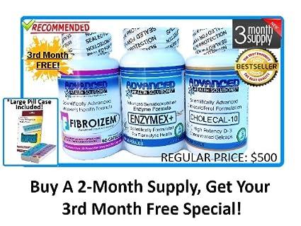 Amazon com : Uterine Fibroid Treatment - Fibroid Enzyme Health