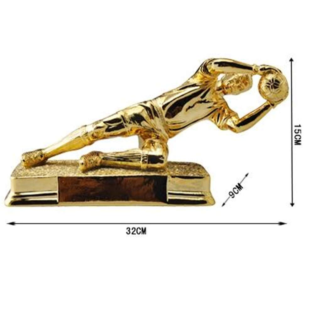 WDS ZLH-Decorative Resin Craft Ornaments Football Player Figures Gold-Plated Desktop Ornaments European Creative Home Accessories