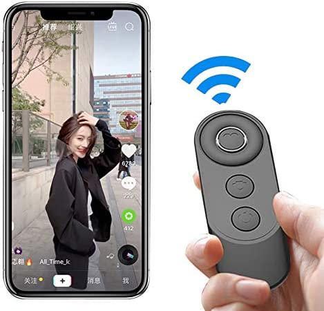 PGT Proxima Bluetooth Selfie Remote Control for Android Ios Smartphones Tiktok Youtube E-book Auto Flip Remote Shutter