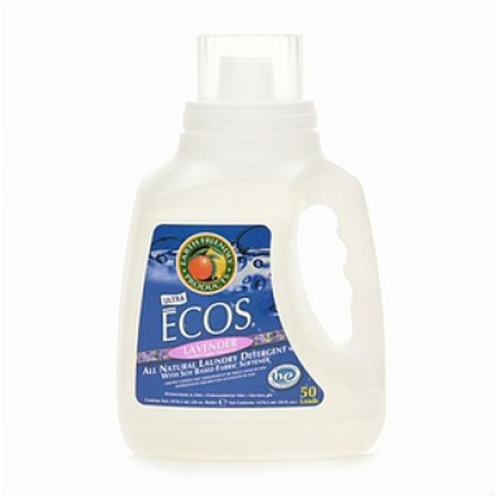Earth Friendly Products Proline PL9755/08 ECOS Lavender Scented Liquid Laundry Detergent, 50oz Handle Bottles (Case of 8)