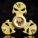 New Style Skull Fidget Spinner Triangle Single Finger Decompression Gyro Hand Spinner Toy- Perfect For ADD, ADHD, Anxiety, and Autism Adult Children by XILALU (A)