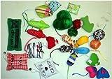 Grab bag CATNIP 24 pieces cat toys bag