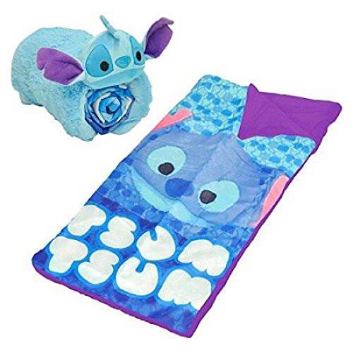 Disney Tsum Tsum Kids Slumber Bag & Roll Up Pillow Set - Stitch