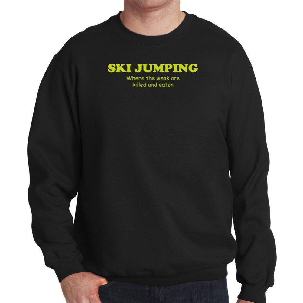 Ski Jumping WHERE THE WEAK ARE KILLED AND EATEN Sweatshirt