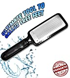 Colossal foot rasp foot file and Callus remover. Best Foot care pedicure metal surface tool to remove hard skin. Can be Used on both wet and dry feet, Surgical grade stainless steel file.