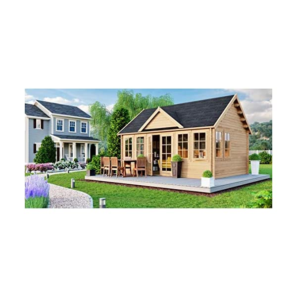 Best Epic Trends 51ibUci8NcL._SS600_ Allwood Claudia | 209 SQF Cabin Kit, Garden House