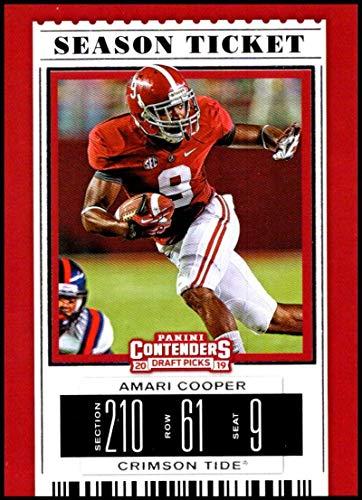 2019 Panini Contenders Draft Season Ticket #6 Amari Cooper Alabama Crimson Tide NCAA Football Trading Card