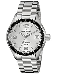 Claude Bernard Men's 70169 3 AIN Analog Display Swiss Quartz Silver Watch