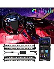 Govee Car LED Lights, Interior Car Lights Upgrade Two-Line Design, APP & Box Control, Music Sync, RGB LED Lights for Car, DC 12V