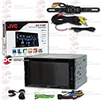 2017 JVC KW-V130BT 2DIN 6.2 Touchscreen Car DVD CD Receiver Bluetooth & Pandora Plus DCO Waterproof Backup Camera with Nightvision (Optional camera)