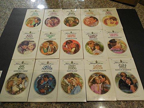 Harlequin Presents Lot of 15 Romance Novels #415-749 - Glasses Harlequin