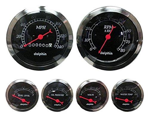 amazon com dolphin gauges 6 gauge mechanical set white automotive rh amazon com