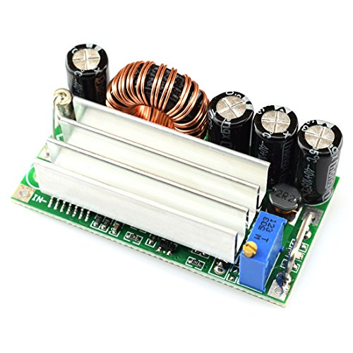 (DZS Elec DC 4A Step-Up Down Power Supply Module DC-DC 4.5V-30V to 0.5V-30V Automatic Low Ripple Buck/Boost Voltage Regulator Large Power Constant Voltage)