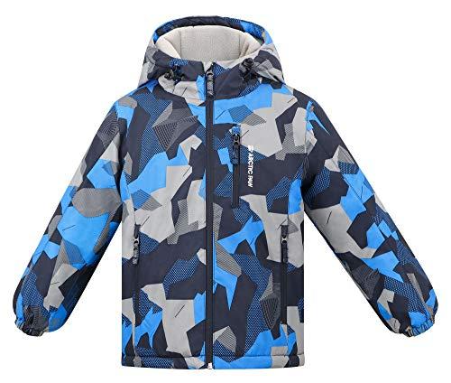 Arctic Paw Boys Winter Snowboard Coats Fleece Liner Snow Jacket Boys, Boy_8_7-8Y