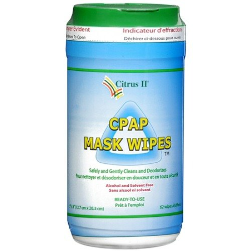 Citrus Ii Cpap Mask Cleaning Wipes ,Clean and Maintain 62 Ea(2 (Cpap Wipes Citrus Ii)