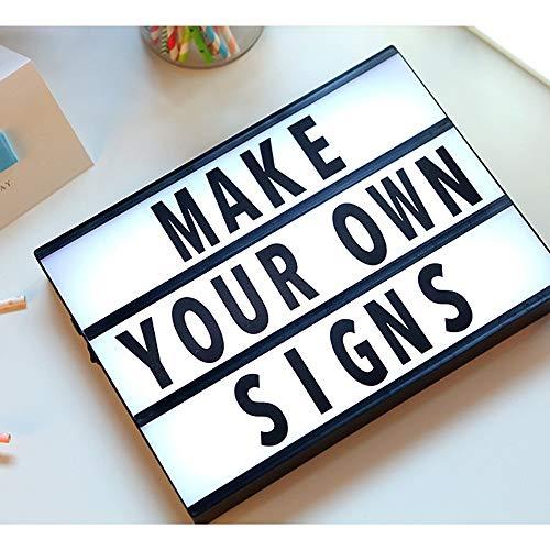 (HYH LED Fun Alphabet Puzzle Light Box Acrylic Girl Interior Decoration Lamp Holiday Lights DIY Romantic Photo Props Message Children Birthday Gift A Beautiful Life (Color : Black))