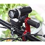 NiceButy-Supporto-per-lampada-tascabile-estendibile-supporto-per-manubrio-in-fibra-di-carbonio-per-bicicletta-MTB-colore-Rosso