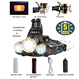 Headlamp Flashlight,COSOOS Head Lamp,USB Rechargeable Headlamp with Battery,Xtreme Bright,Zoomable 4-Mode Waterproof Hand-Free LED Light for Camping,Hunting,Hiking,Fishing,Hardhat,Support AAA Battery