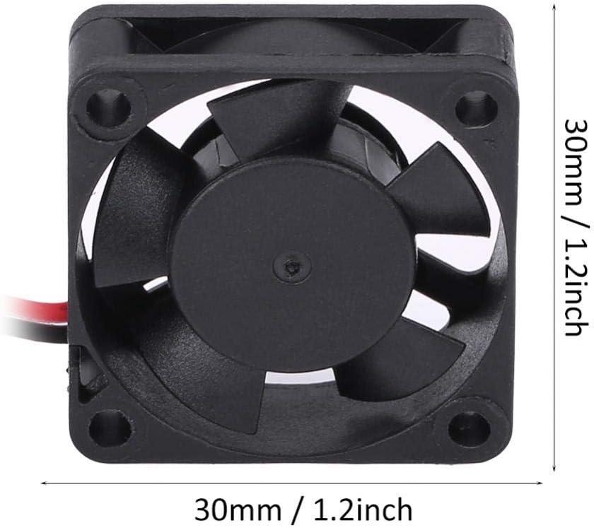 Hockus Accessories 5V-7V DC Cooling Fan RC Motor Engine Cooling Fan Black DC Fan Car Parts 2 Size 30//50MM Color: 50MM