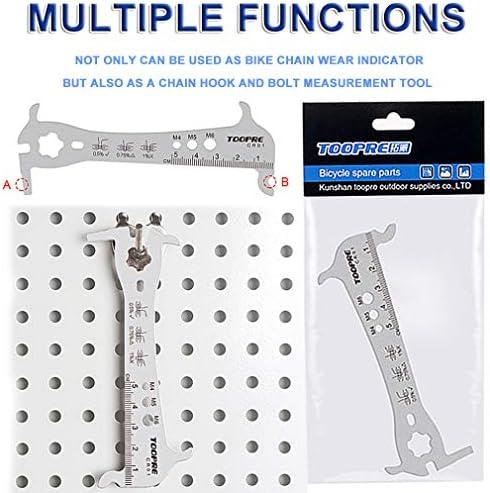 Bicycle Bike Chain Checker Wear Indicator Measure Tool Gauge Repair check N QW