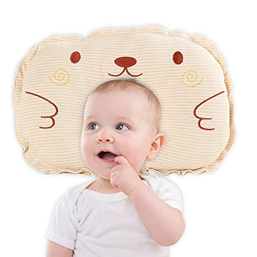 Ginkago Baby Head Shaping Pillow -Newborn Infant Memory Foam Cotton Pillow for Sleeping, Prevents Newborn and Infant Flat Head Syndrome, Breathable & Protective by Ginkago