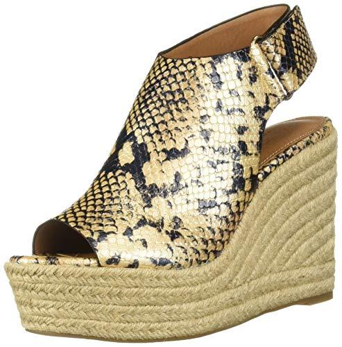 Aerosoles Women's Martha Stewart Hillside Wedge Sandal, Tan Snake, 12 M US