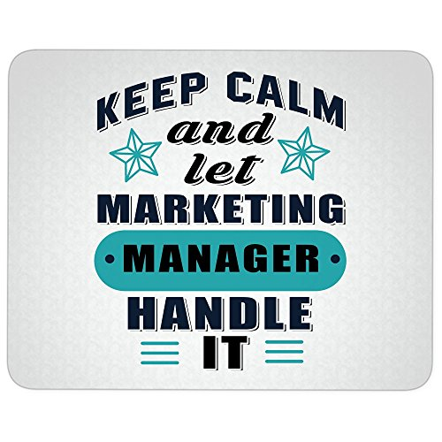 Marketing Manager great gift idea Mousepad, Let Marketing Manager Mouse Pad (Mouse Pad - White) ()
