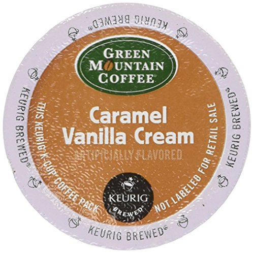 Caramel Brown Swirl - Green Mountain Coffee Caramel Vanilla Cream, K-Cup Portion Pack for Keurig K-Cup Brewers (Pack of 48)