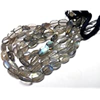 "JEWEL BEADS Beautiful jewelry AAA++ Quality Natural Labradorite Faceted Oval Beads Full 12"" Strand 10-6 mm/Multy Flashy Fire Labradorite beads/Labradorite Gemstone Code- UKA-10431"
