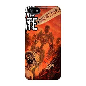 Hard Protect Phone Cases For Iphone 5/5s (LTb8620Zxrg) Custom Realistic Rise Against Skin