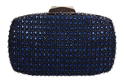 Prom Womens Glassy Bag Navy Blue Sammy Party Stud SWANKYSWANS Box Clutch xgfCq4