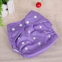2018 Brand New 1PC Adjustable Reusable Lot Baby Kids Boys Girls Washable Cloth Diaper Nappies Baby Solid Diaper Cover Wholesale : Purple