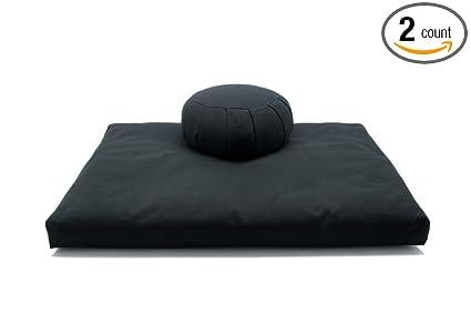 Amazon.com: Deluxe Zafu & Zabuton 2 Piece Set - Yoga ...
