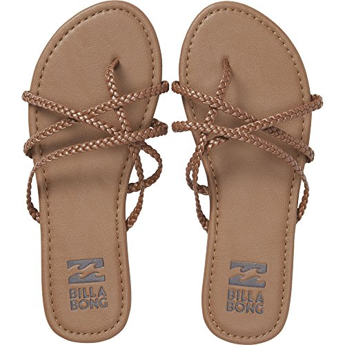 Billabong Women's Crossing It Slide Sandal, Desert Brown, 7 M (Brown Leather Woman Sandal)