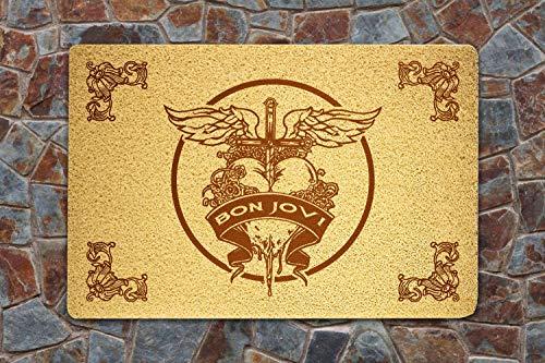 shopARMUS Bon Jovi Doormat Sweet Home Supplies Décor Accessories Unique Gift Handmade Present Idea Original Design Commercial Outside Inside Personalized Quotes Exterior ()