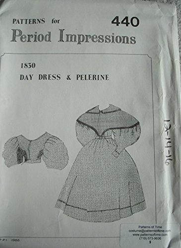 [1830 Daydress & Pelerine Pattern (Medium- 12-16)] (Period Costumes 1830)