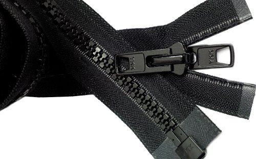 "UPC 000124580808, Zipperstop Wholesale YKK® Bimini Top #10 Black Marine Double Pull Zipper 80"" ~ YKK Zipper"