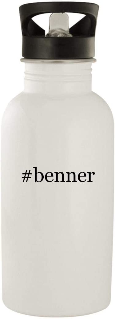#Benner - Stainless Steel Hashtag 20Oz Water Bottle, White