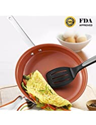 Hommate 9 Inch Non Stick Frying Pan Nonstick Frying Pan,Omelette Pan,Small Frying Pan,Egg Pan,Omelet Pan,Egg Skillet Nonstick Fry Pan Nonstick Green Ceramic Frying Pan,Healthy Non Toxic,Oven Safe