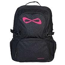 Nfinity Sparkle Backpack Black w/ Pink Logo