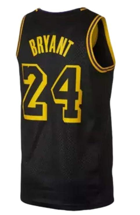 CRBsports Kobe Bryant, Baloncesto Jersey, Lakers, Negro, Ciudad Edicion, Tejido Bordado, Swag, Ropa Deportiva: Amazon.es: Deportes y aire libre